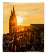 Paseo Del Carmen Fleece Blanket