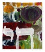 Passages 2- Abstract Art By Linda Woods Fleece Blanket