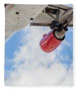 Passenger Jet Coming In For Landing 9 Fleece Blanket