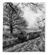 Passenger Train Travel Fleece Blanket