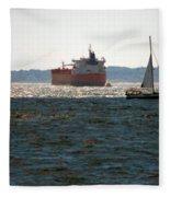 Passing Ships Fleece Blanket