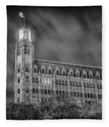 Passing Storm At The Emily Morgan Hotel Fleece Blanket
