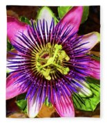 Passion Flower Fleece Blanket