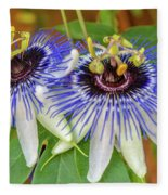 Passion Flower Power Fleece Blanket