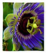 Passion-fruit Flower Fleece Blanket