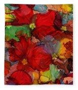 Passion Of Flowers Fleece Blanket