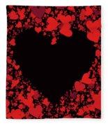 Passionate Love Heart Fleece Blanket