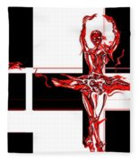 Passions Dance Across The Checkerboard Of Life Fleece Blanket