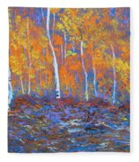 Passions Of Fall Fleece Blanket
