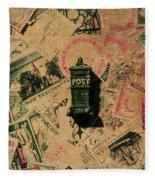 Past Letters In Post Fleece Blanket