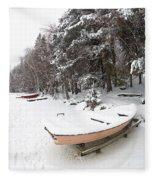Pastel Boat Fleece Blanket