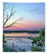 Pastel Clear Lake 3 Fleece Blanket
