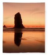 Pastel Evening On The Oregon Coast Fleece Blanket