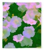 Pastel Flowers Fleece Blanket