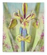 Pastel Iris Fleece Blanket