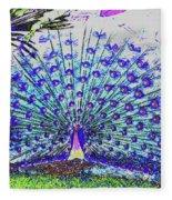 Pastel Peacock Fleece Blanket