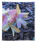 Pastel Petals Fleece Blanket