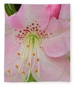 Pastel Pink  Azalea Fleece Blanket
