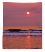 Pastel  Pink Sunrise Fleece Blanket