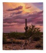 Pastel Sonoran Skies At Sunset  Fleece Blanket