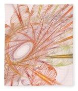 Pastel Spiral Flower Fleece Blanket