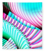Pastel Spiral Staircase Fractal Fleece Blanket