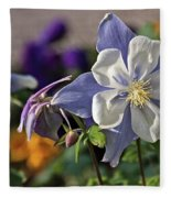 Pastel Spring Flowers Fleece Blanket