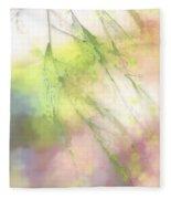 Pastel Spring Whispers Fleece Blanket