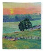 Pastoral Sunset Fleece Blanket