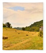 Pastorial Framland In Kentucky Fleece Blanket