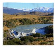 Patagonia Landscape Of Torres Del Paine National Park In Chile Fleece Blanket