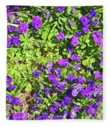 Patch Of Pansies Fleece Blanket