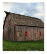Patched And Still Standing Fleece Blanket