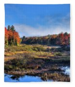 Patches Of Fog At The Green Bridge Fleece Blanket