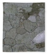 Patches Of Grey And Life Fleece Blanket