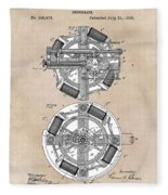 patent art Edison 1888 Phonograph Fleece Blanket