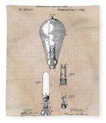 patent art Edison 1892 Incandescent electric lamp Fleece Blanket