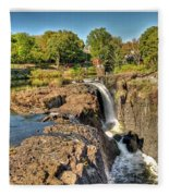Paterson Water Falls Black And White Fleece Blanket