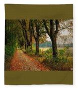 Path Along The Horses Meadow On The Farm Lovedayvale L A S Fleece Blanket