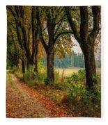 Path Along The Horses Meadow On The Farm Lovedayvale L B Fleece Blanket