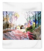 Path In Colors Fleece Blanket