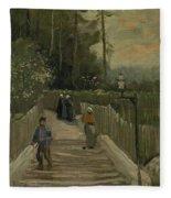 Path In Montmartre Paris  April - May 1886 Vincent Van Gogh 1853  1890 Fleece Blanket