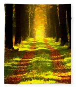 Path In The Forest 715 - Painting Fleece Blanket