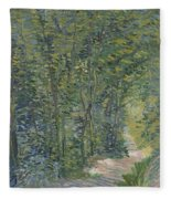 Path In The Woods Paris, May 1887 - July 1887 Vincent Van Gogh 1853  1890 Fleece Blanket