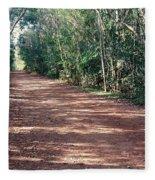 Path Into The Jungle Fleece Blanket