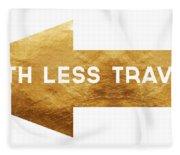 Path Less Traveled-  Art By Linda Woods Fleece Blanket