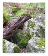 Path Not Taken Fleece Blanket