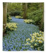 Path Of The Beautiful Spring Flowers Fleece Blanket