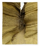 Path Through The Tent Rocks Fleece Blanket
