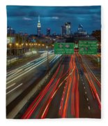 Path To And From Nyc Fleece Blanket